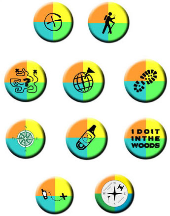 Geocaching Button Set