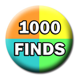 Milestone Badge - 1,000 Finds